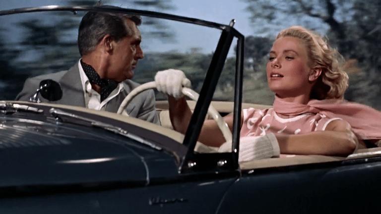"""Cary Grant y Grace Kelly en la película """"Cómo atrapar al ladrón"""" filmada en la Costa Azu"""